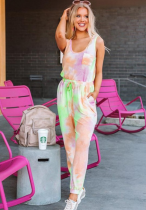 Green Tie Dye 2 Piece Set Sportswear