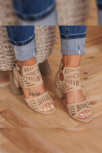 Kahki High Heel Sandals