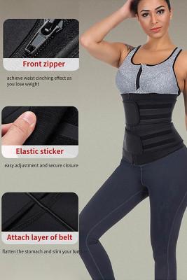 Black Sauna Sweat Sport Girdles Neoprene Body Shaper