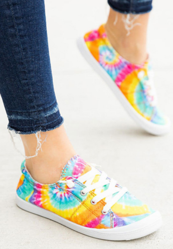 Yellow Tie Dye Canvas Shoe GJ791