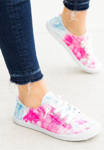 Pink Tie Dye Canvas Shoe