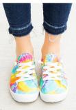 Yellow Tie Dye Canvas Shoe