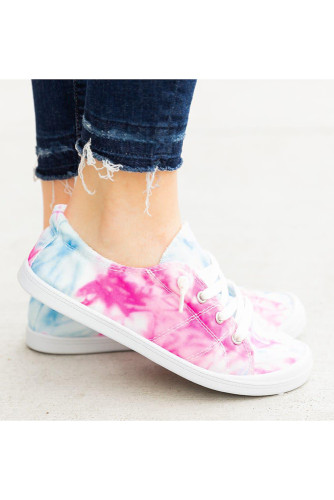 Pink Tie Dye Canvas Shoe GJ791