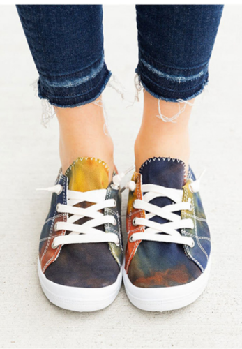 Black Tie Dye Canvas Shoe