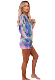 Tie Dye Drawstring Shorts Set