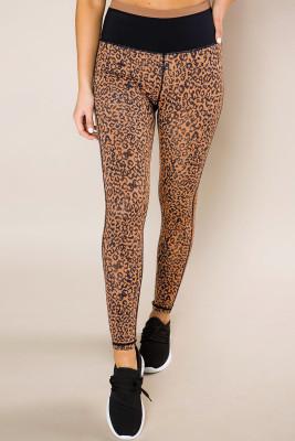 Mocha Leopard Print Active Leggings