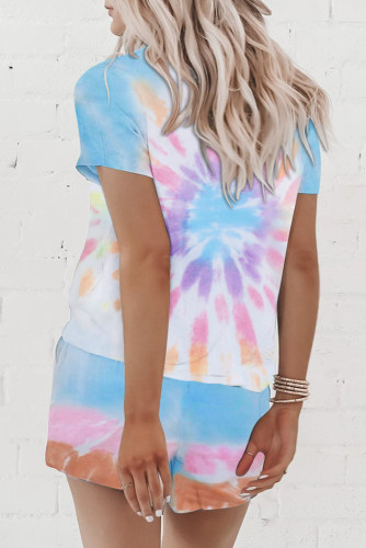 Multicolor Tie Dye Lounge Set LC62093