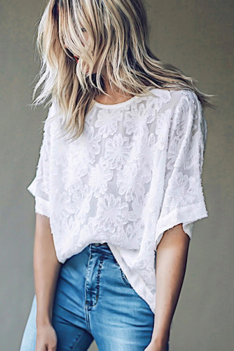 White Blossom Floral Top