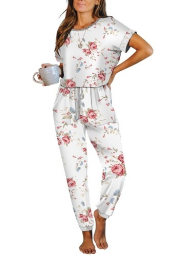 Floral Print One Piece Jumpsuit