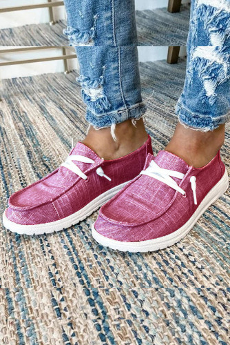 Pink Solid Canvas Shoes