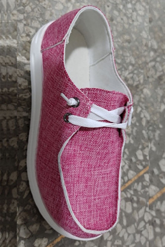 Pink Solid Canvas Shoes XC696