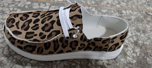 Leopard Print Canvas Shoes XC696
