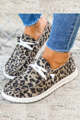 Leopard Print Canvas Shoes