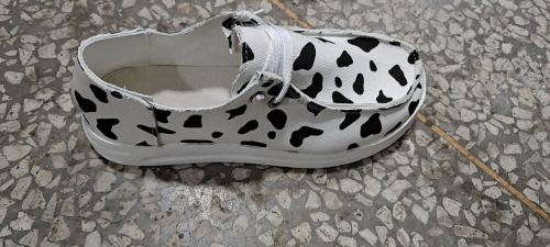 Cow Pattern Print Canvas Shoes XC696