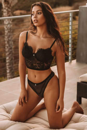 Black Allure Bustier Lingerie Set