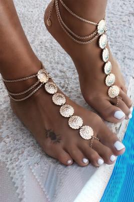 Vintage Totem Anklet Sun Flower Ankle Bracelet