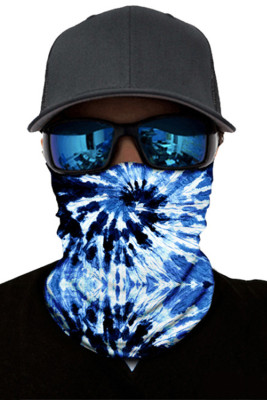 BlueTie Dye Print Face Mask and Neck Warmer with Dust and Sun UV Protection