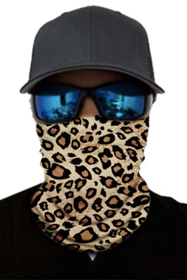 Leopard Print Face Mask and Neck Warmer with Dust and Sun UV Protection