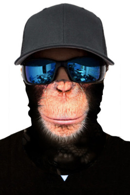 Baboon Print Cycling Motorcycle Head Scarf Neck Warmer Face Mask
