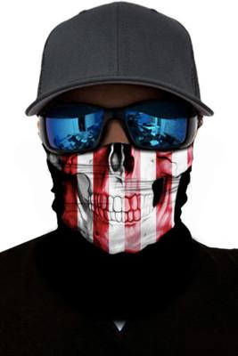 Striped Skull Dust Sun UV protection Face Mask
