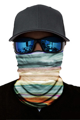 Multicolor Tie Dye Print Face Mask and Neck Warmer with Dust and Sun UV Protection