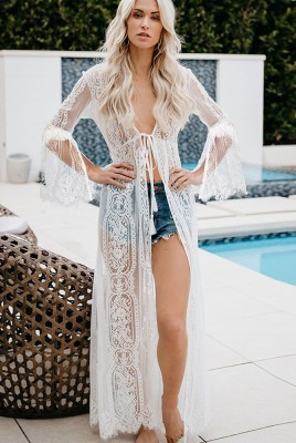Sexy Transparent Beach Lace Dress