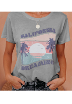 California Sunset Print Top