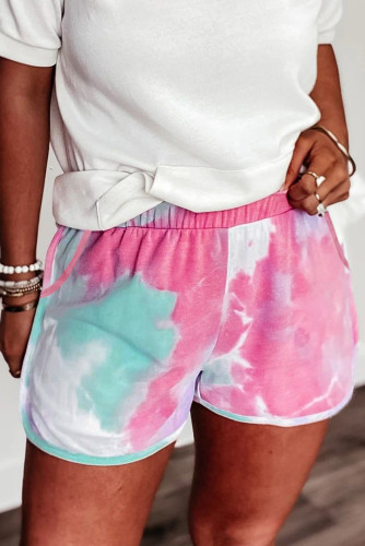 Pink Tie-dye Terry Shorts