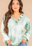 Tie Dye V Neck Buttoned Top