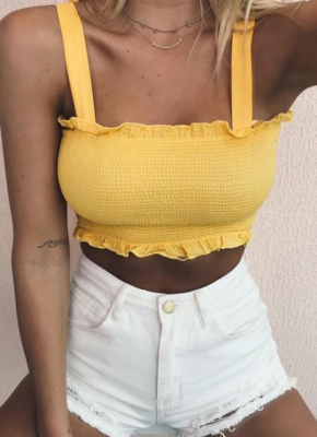 Yellow Strappy Tube Top