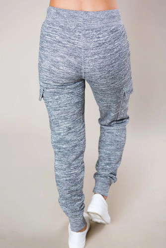 Heathered Gray Pocketed Casual Joggers LC77295