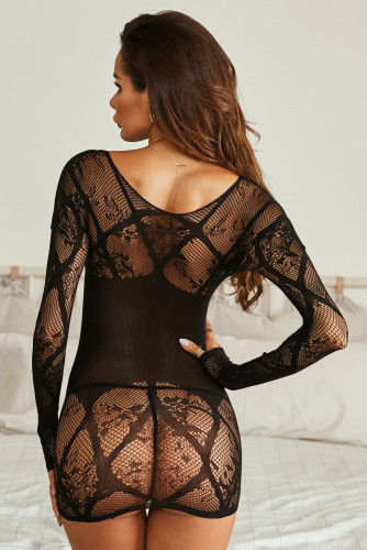 Long Sleeve Lace Lingerie Dress LC31525