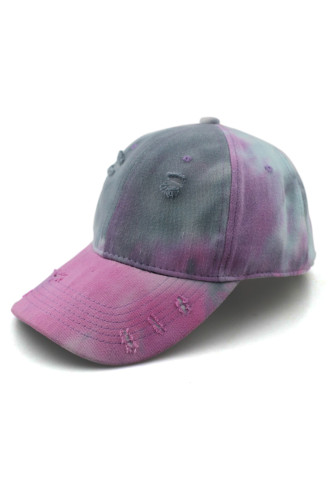 Purple Tie-dye Print Cotton Baseball Cap
