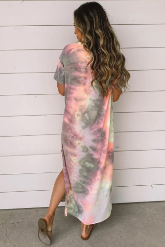 Gray Tie Dye Maxi Dress LC61498