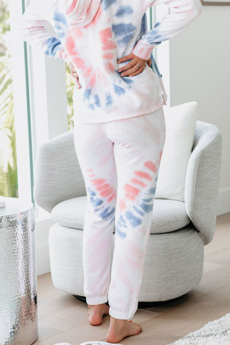 Utopia Cotton Blend Tie Dye Hoodie Joggers Loungewear LC45065