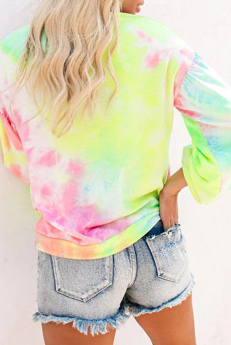 Multicolor Tie-dye Knit Sweatshirt LC2511075