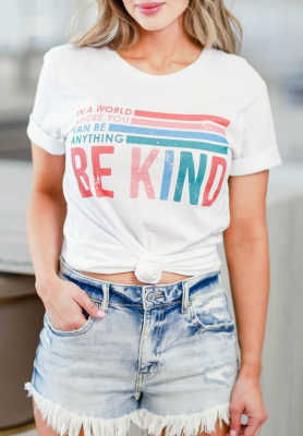 Be Kind Print Top
