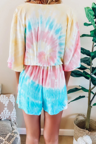 Soakin' Up The Sun Tie Dye Romper LC64829