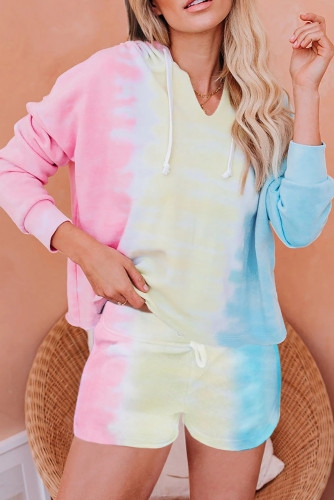 Boardwalk Overlook Seashell Sky Blue Multi Tie Dye Set