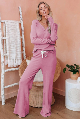 Pink Cotton Modal Shirt and Pants Loungewear