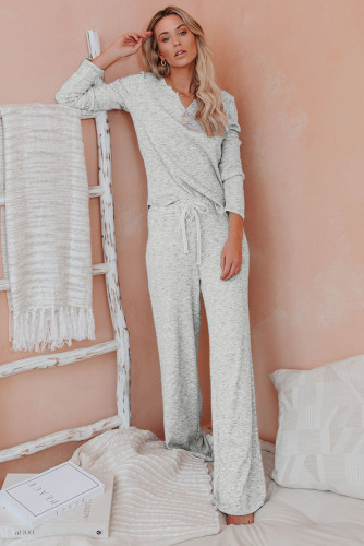 Gray Cotton Modal Shirt and Pants Loungewear
