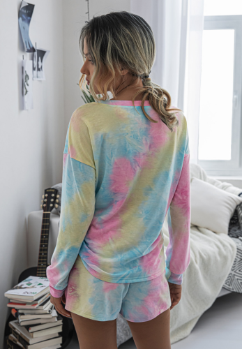 Tie Dye Loungewear Shorts Set XC805