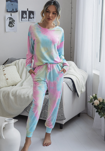 Tie Dye Full Length Pants Set