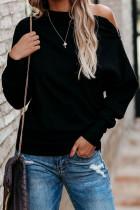 Black Ribbed Zip Knit Top