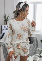 Floral Loungewear Shorts Set