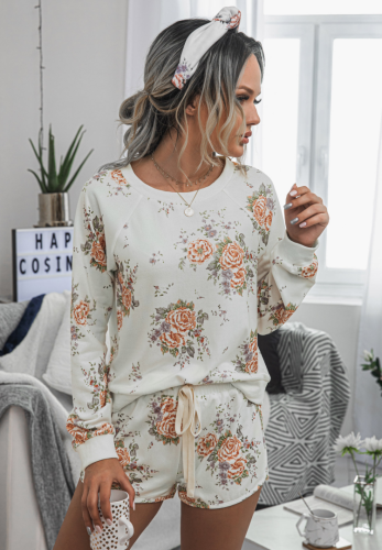 Floral Loungewear Shorts Set