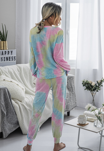Tie Dye Full Length Pants Set XC806
