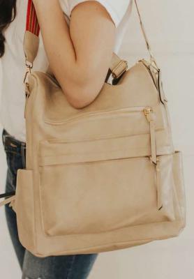 Cream Large Capacity Backpack