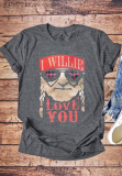 I Will Love You Print Top