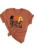Orange Holloween Granphy Tee